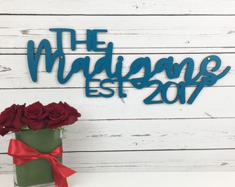 Custom Wood Wedding Sign, Wedding Name Sign, Bride Groom Names Sign, Wedding Reception Wood Sign, Name Year Wedding Sign