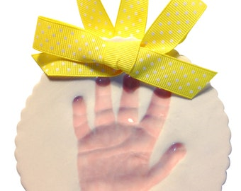 Baby Handprint or Footprint Clay Keepsake