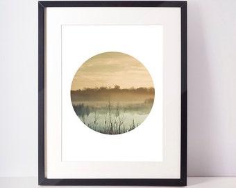 SALE - 50% Forest Print, Circle Print, Circle Art, Forest Photography, Cloud Photography, Cloud Print, Forest Art, Instant Download print