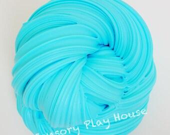 Bright Blue Bubble Gum Scented Fluffy Slime