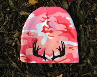 Baby Hunting Clothes - Camo Beanie - Camo Baby Clothes - Hunting Baby Girl - Hunting Beanie - Baby Girl Camo Hunting Beanie