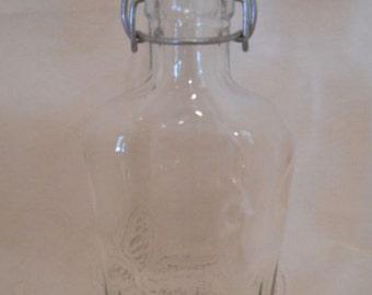 Flask - Liquor Bottle Flask - Craft Liquor Glass Bottles for Your Liquor - DIY Groomsman Flask - 250ml - 8.5oz