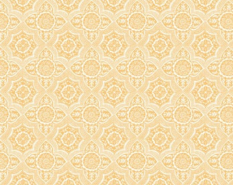 Meadows Lace in Gold by Ana Davis for Blend Fabrics - 1/2 Yard