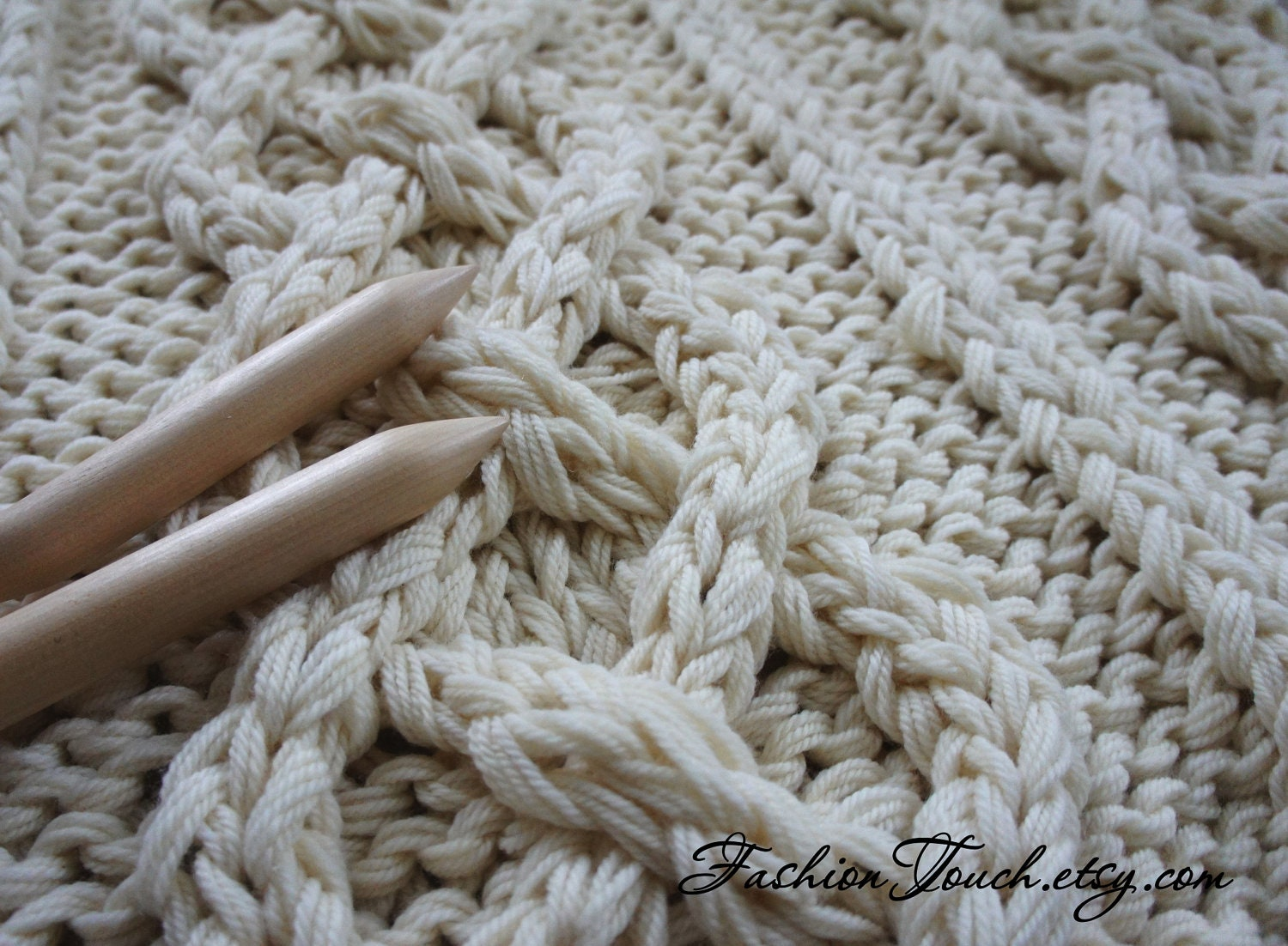 Knit Blanket Cable Knit Blanket Knit Throw Knit Blanket