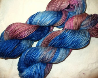 Superwash  Hand Dyed DK Weight Wool Yarn for Knitting or Crochet