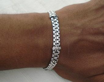 Traditional design sterling silver bracelet bangle cuff handmade jewellery