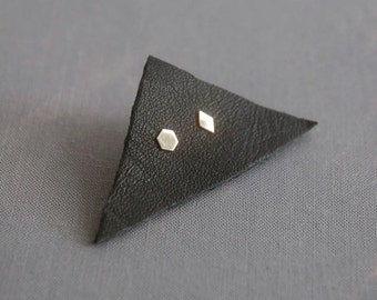 solid gold earrings, cartilage and lobe studs, tiny earrings, triangle studs, diamond studs, gold studs, honeycomb studs, gold earrings