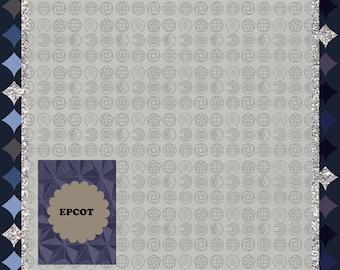 Digital Scrapbook Page Epcot