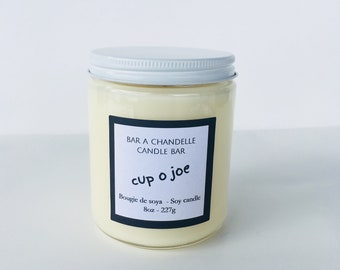 8oz Cup of Joe, Soy Candle, Coffee Candle, Coffee Scented Candle, Natural candle, 8oz Candle, 8oz Jar, Candle Gift, Scented Candle