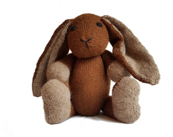 Tilly the Hand Knit Bunny, soft toy, Handmade, stuffed animal, children's toy, baby shower gift, Easter, nursery decor, soft bunny, plush