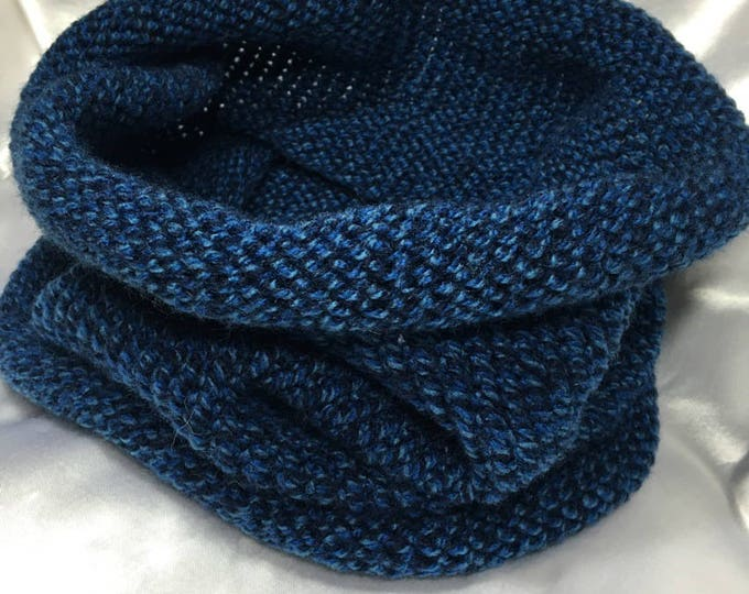 Snood men one size 20% wool worsted