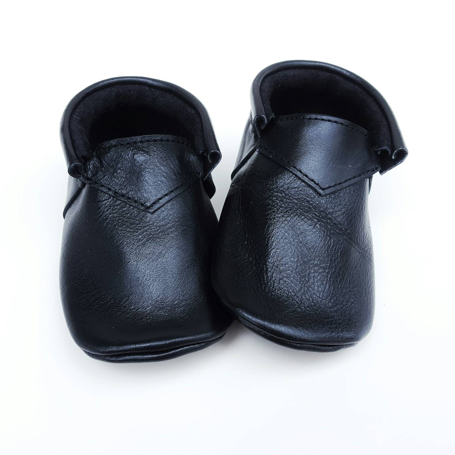 Black boho Loafers baby shoes baby moccs moccs moccasins