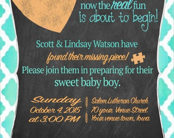 Customizable Adoption Baby Shower Invitation/Announcement I ALSO PRINT