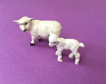 Darling Little Porcelain Ewe with Her Lamb