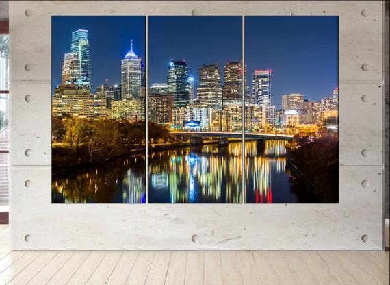 Philadelphia wall decor art  Philadelphia black white  Philadelphia canvas wall art  canvas wall art