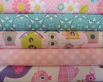 Birdhouse Rag Quilt Kit, Easy to Make, Personalized, Bin N, Sewing Available