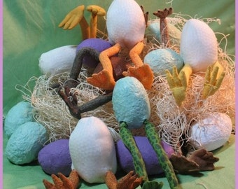 PDF Pattern, Primitive Eggs, Egg Pattern,