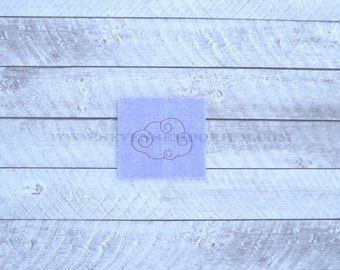 Swirly Cloud Accent Quilting Stippling Embroidery Machine Embroidery Design