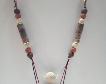 Earth colors, Afro necklace