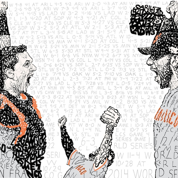 San Francisco Giants 2014 World Series Word Art FREE