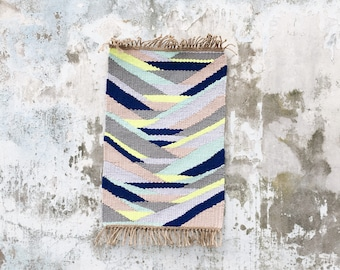 LOKA - Hand - OOAK - recycled cotton - organic jute - 60 x 100 cm - Slowmade rug woven in France by two hands