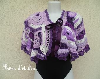 Free-form crochet shoulder-gorgeous warmer