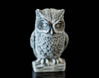 Marble. owl. figurine. cast marble. Russia. home decor. art