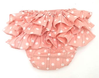 ruffle baby pants. ruffle polka dot toddler pants. ruffle diaper covers. baby bloomers.