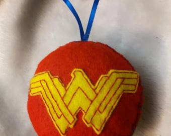 Wonder Woman inspired felt ornament
