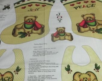 Teddy Bear Holiday Stockings and Bibs