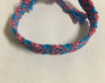 Baby Blue Baby Pink Heart Bracelet