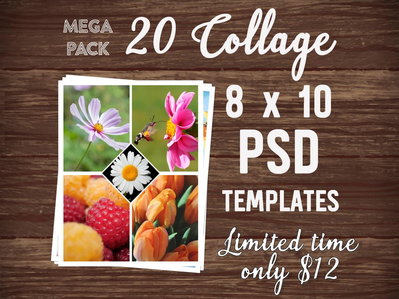 Mega-Pack-Foto-Collage Vorlage PSD-Vorlage Foto-Collage