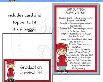 Graduation Survival Kit for a boy  - Digital Printable - Immediate Download