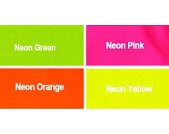 """20 """" YKK Zippers - Neon Colors #3 Nylon Coil - Select Your own Color (each color have 10 zippers)~ZipperStop Wholesale  Distributor YKK®"""
