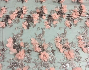 Lace Fabric/3D luxury Lace Fabric