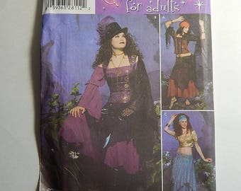 Simplicity 4484 Size HH 6, 8, 10, 12 Adult Halloween Costume Pattern Gothic
