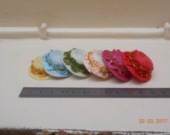 1/12 scale miniature Hat - 6 colors to choose from