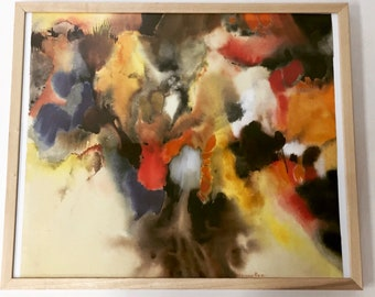 Abstract watercolor painting on paper by Johanna Haas