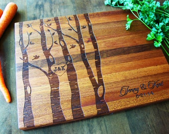 Personalized Cutting Board, Custom Name, Family Tree, Christmas Gift, Established Family Signs, Wedding, Anniversary, Housewarming Gift