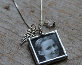 Angel Wing Custom Photo Necklace