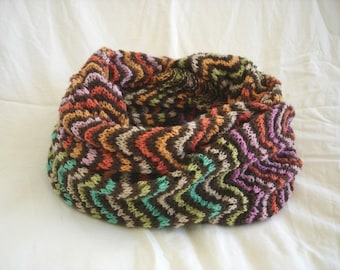 KNITTING PATTERN- Colorful Lace Cowl in PDF