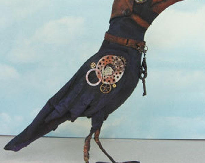 SE465E - Steampunk Crow PDF Doll Making Instructions and Pattern