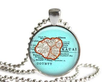 Kauai, Hawaii necklace pendant charm, Island of Kauai art photo pendant by locationinspirations, sister gift