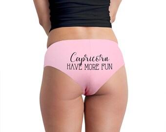 Capricorn Have More Fun Women's Boyshort Underwear