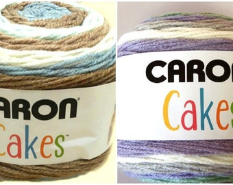 Caron Cakes Yarn  Self Stripping Soft Worsted Weight Acrylic Wool Blend