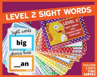 VIPKid Level 2 Sight Words and Phonics Focus