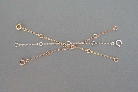 Extenders for Necklaces Rose Gold Extender Gold Extender