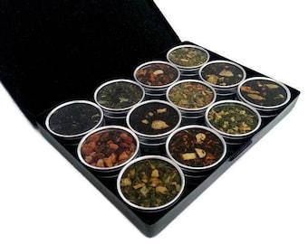 Organic teas, MOTHERS DAY GIFT, for grandma, Best Friend Gift, Tea Sampler, gift for women, loose leaf teas, Tea Lover, Drawstring Tea Bags,