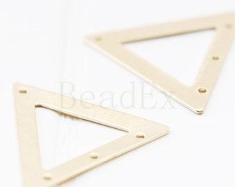 30 Pieces / Raw Brass / Pendant / Charm / Triangle 18.5mm  (C1733//P312)