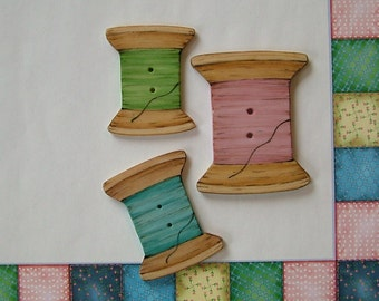 Spool Buttons set of 3